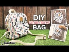 Diy Tote Bag, Diy Purse, Bag Patterns To Sew, Sewing Patterns, Diy Clothes Tops, Diy Bags Purses, Sewing Lessons, Patchwork Bags, Fabric Bags