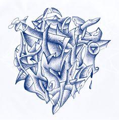 VellaiTamas Abstract pen drawings art tehetetlen by vellaitamas.deviantart.com on @deviantART