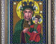 Czestochowa icon of the Mother of God Black Madonna of Częstochowa Our Lady of Częstochowa Byzantine russia catholic orthodox Russe icone
