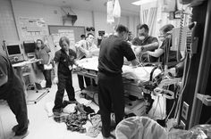 Yep that's the way it looks in a trauma room!