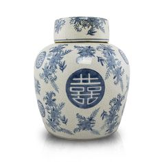 Double Happiness Ceramic Urn - Large