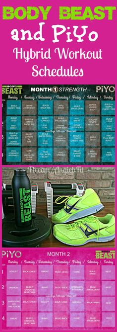 CLICK the pin to see this Hybrid Calendar of two amazing programs, PiYo and Body Beast!! This worked amazingly for me but I didn't have the calendar. www.beachbodycoach.com/ashleyj0914 to order products  or follow me on www.facebook.com/tbbcoachashleyj0914/?ref=bookmarks