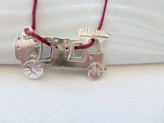 Sterling Silver Handmade Necklace Train by GeorgiaCollection, €23.00