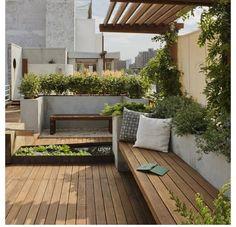 Terrace. Rooftop deck design
