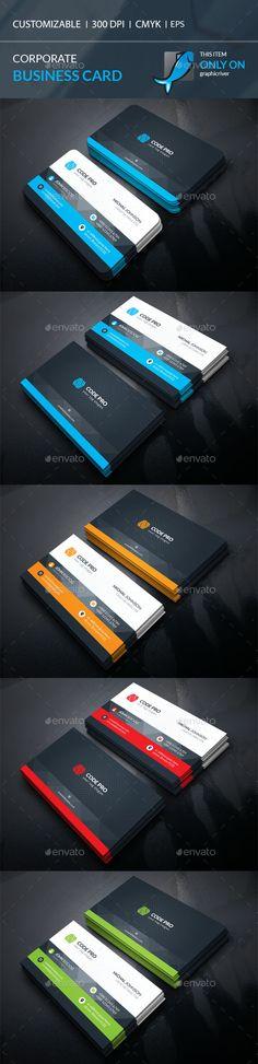 Business Card Template Vector EPS, AI Illustrator