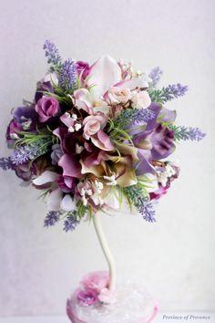 топиарий, орхидеи, фиолетовый