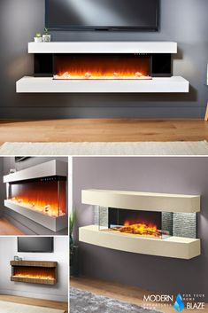 Check out these gorgeous 3-sided fireplaces. Get a good view of the beautiful display from almost any angle. 3 Sided Fireplace, Fireplace Inserts, Outdoor Sculpture, Works With Alexa, Hanging Pictures, Lawn And Garden, Nice View, Lamp Light, Evolution