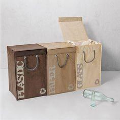 Seletti Cestino per raccolta differenziata Recyclebags - 3 pezzi Lovepromo