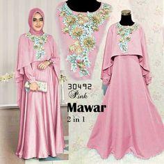 mawar 2 in 1 pink Rp153rb, maxi tgn pjg busui sleting, pinggang blkg karet, tgn kancing, ld 90 pjg 137 lb 280 full balotelli, cape bordir, sleting belakang, berat 680gram  contact us  FB fanpage: Toko Alyla  line@: @alylagamis  WA: 0812-8045-6905    toko online baju muslim  gamis murah  hijab murah  supplier hijab  konveksi gamis  agen jilbab