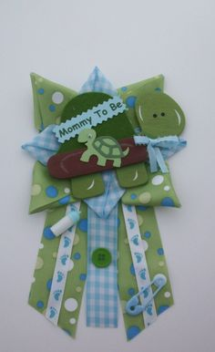 Turtle+Baby+Shower+Corsage++Ready+To+Ship+by+CrazyCraftFrog,+$19.50
