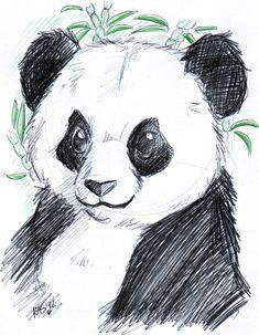 Panda - Brio pen by *KeyshaKitty on deviantART