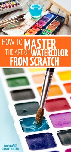 Click to learn how to watercolor from scratch with step by step watercolor tutorials for beginners! #watercolor #art #watercoloring