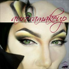 Maleficent inspired make up