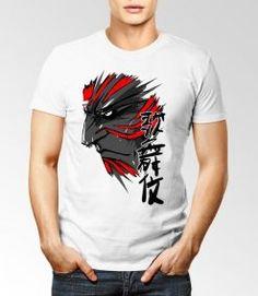 samurai visage t-shirt personnalisé dzgraphique algerie