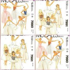 McCalls American Ballet Theater Sewing Pattern 7990 7991 ABT Tutu Costume UPICK