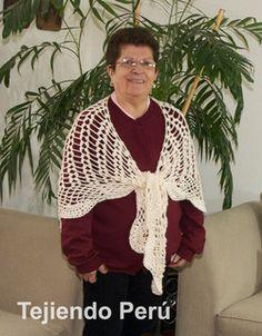 Cómo tejer un chal o punta y borde de abanicos a crochet!