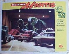 """""""Deadly Mantis"""", 1957  Original Lobby Card movie poster   Guaranteed Authentic for life at http://www.cvtreasures.com  $350"""