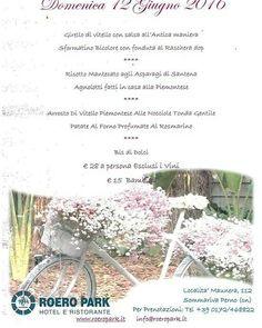 #pranzo #domenica12giugno #0172468822 #Info@roeropark.it #Www.roeropark.it