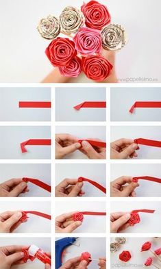 57 simple and practical manual diy tutorial a historic san francisco summer home full of family history Paper Flowers Diy, Diy Paper, Paper Crafts, Origami Flowers Tutorial, Diy Origami, Origami Rose, Origami Folding, Oragami, Scrap Wood Crafts