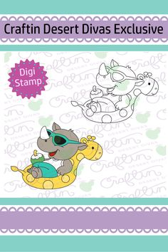 Cool Summer Digital Stamp - Craftin Desert Divas