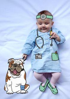 rocio veterinaria baby photography fotografía bebé creativa infantil niños kids illustration ilustración