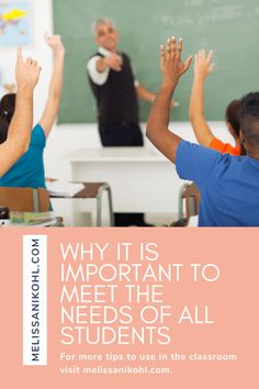 Why it is Important to Meet the Needs of All Students - Melissa Nikohl Differentiation Strategies, Differentiated Instruction, Classroom Routines, Classroom Activities, School Counselor, Teacher Hacks, Student Learning, Special Education, Classroom Management