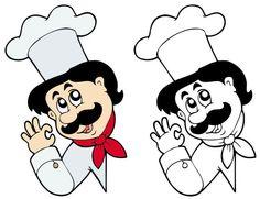 Мультфильм символов шеф-повар 06 - вектор