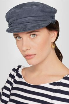 Maison Michel - Abby Suede Hat - Gray - S
