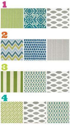 Love these patterns and color combos for painting and decorating