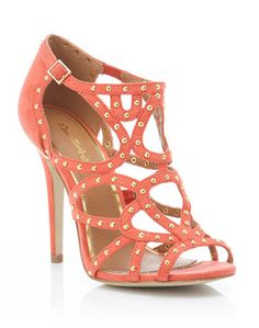 coral pin stud sandal