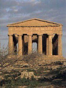 greek temple with pediment