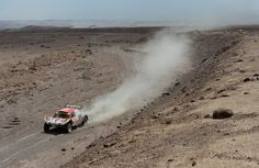 Lino Ramon Sisterna and co-pilot Juan Pablo Sisterna of team Volvo compete in stage 5 from Arequipa to Arica during the 2013 Dakar Rally on January 9, 2013 in Arequipa, Peru.