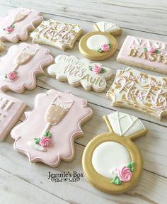 Iced Sugar Cookies, Royal Icing Cookies, Cupcake Cookies, Cupcakes, Engagement Cookies, Engagement Parties, Anniversary Cookies, 50th Anniversary, Wedding Shower Cookies