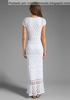 Crochetemoda: White Dress Crochet