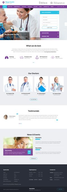 Mega Health is clean, modern, user friendly and responsive AngularJS, Bootstrap, HTML5 #template suitable for Hospital, Clinic, #Dentist, #Pharmacy, #medical & health website. Download Now!