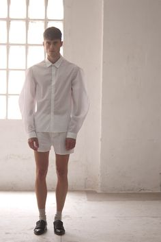 """Guillem Rodriguez is based in Barcelona, Spain. He studied at BAU Design School and graduated in winning the Modafad Awards with his """"Romantycs"""" collection, based on a research and the development of his personal Imaginery. Torino Fc, Sport Hair, Zen, Matches Fashion, Perfect Wardrobe, White Shirts, Fashion Stylist, Cool Hairstyles, Sporty Hairstyles"""