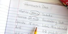 Create a Homework Plan