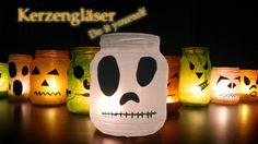 KERZENGLÄSER DIY Halloween - Party Deko Selber Machen. Basteln [ Last Minute Tipps Neu 2014 ]