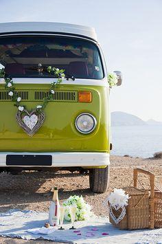 Vintage Bus 4 Rent, Ibiza wedding service - White Ibiza. Photography by Sofia Gomez Fonzo #kombilove