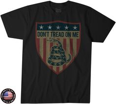 Don't Tread on Me Shield T-Shirt - Leatherneck for Life USMC Gear