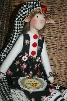 Wichtel-Elf-wie-Tilda-Engel-Weihnacht-Winter-Nostalgie-shabby-chic-Puppe-suess