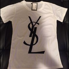 YSL women's top new size large YSL women's top new, measurements are 22 inches long by 14 inches wide. Yves Saint Laurent Tops Tees - Short Sleeve