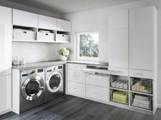 Organize your laundry room with custom cabinets and shelves designed by California Closets. Get inspired by our laundry room storage ideas and designs. Schedule a free consultation today! Laundry Room Remodel, Basement Laundry, Laundry Closet, Laundry Room Organization, Laundry Storage, Folding Laundry, Laundry Hamper, Kitchen Storage, California Closets