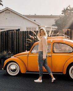 ideas cute cars for girls vw beetles for 2019 Car Photography, Vintage Photography, Kombi Trailer, Carros Vintage, Motos Vespa, Car Poses, Bus Girl, Vw Vintage, Vw Cars