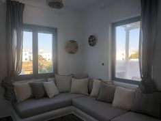 Sunny Vacation in Naxos Island - Holiday Naxos Luxury Villas Big Pools, Swimming Pools, Big Corner Sofa, Vacation Homes For Rent, Private Garden, Luxury Villa, Renting A House, Outdoor Living, Living Room