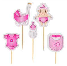 Op zoek naar leuke cupcake decoratie voor de geboorte van jullie dochter? Deze leuke geboorte cupcake versiering bestaat uit een set van 10 cupcake prikkers. Je ontvangt van iedere prikker twee stuks! De prikkers hebben een totale hoogte van circa 8 centimeter en zijn gemaakt van dun karton. Cupcake Toppers, Cupcakes, Baby, Card Stock, Cupcake, Newborn Babies, Infant, Baby Baby, Cupcake Cakes