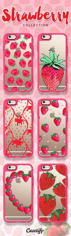 You stand out like strawberries in a bowl of peas.. Take a look at these sweet strawberry cases on our site now! https://www.casetify.com/search?keyword=strawberry | @casetify