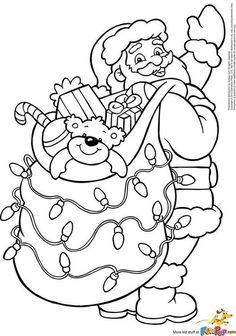 Santa Coloring Pages, Christmas Coloring Sheets, Printable Christmas Coloring Pages, Christmas Printables, Coloring For Kids, Coloring Pages For Kids, Coloring Books, Coloring Worksheets, Colouring Sheets