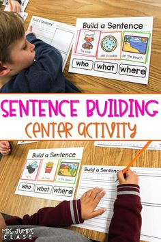 An awesome resource to help your kindergarten and first-grade students build and write sentences during literacy centers.