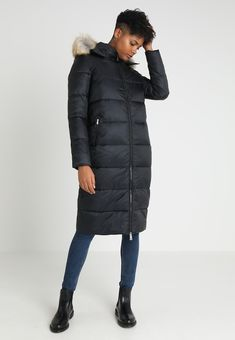 f84d2bd9f31c40 Tommy Jeans MODERN HOODED COAT - Płaszcz puchowy - black - Zalando.pl